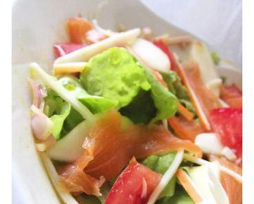 Salade composée saumon fumé et poires