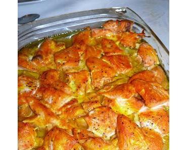 Tajine de saumon et potiron aux amandes