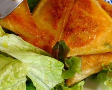 Samoussas à la courge butternut, pomme de terre & curry
