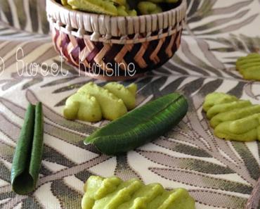Les feuilles gourmandes sablées au matcha