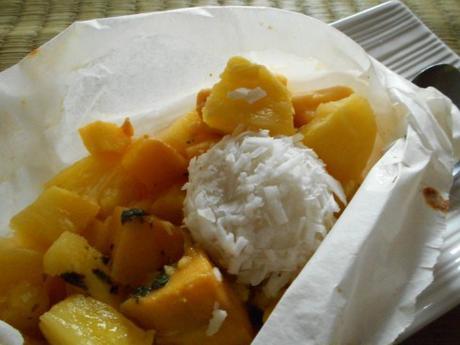 papillote de fruits exotiques perle de coco 1