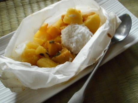 papillote de fruits exotiques perle de coco 4