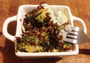 Gratin Brocolis Quinoa Mozzarella
