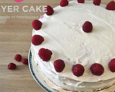 Layer cake vanille et framboises