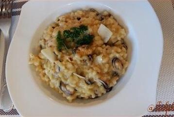 Coquillettes aux moules en risotto