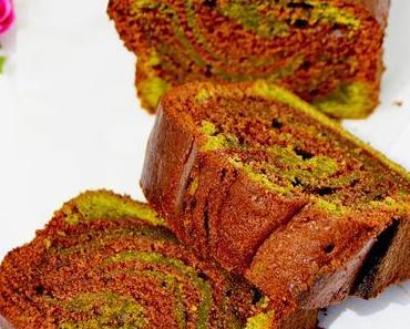 Cake thé vert matcha/chocolat