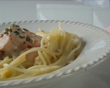 spaghettis au saumon frais...