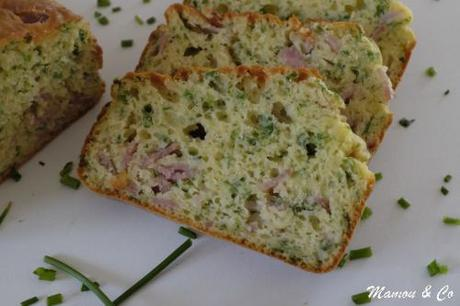 Cake aux fines herbes et au jambon