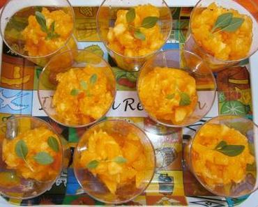 Melon granité en verrines