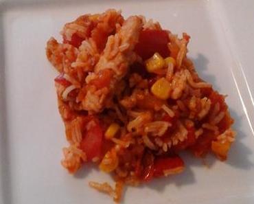 Poêlée riz tomates poulet