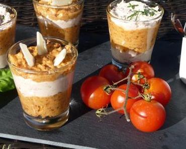 Verrines Mousse de Jambon et Tomates confites
