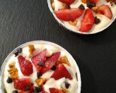 Tartelettes Tiramisu fraise mangue