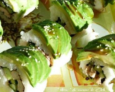 Poulet Teriyaki Sushi Roll
