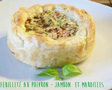 """ღ """" Miam """" Feuilletée au poivron-Jambon et Maroilles"""
