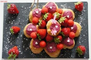 Mes petits choux à la fraise