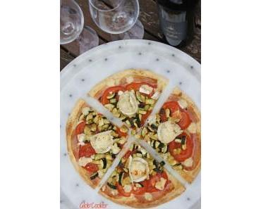 Pizza courgettes et chèvre