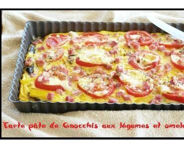 Tarte pâte de Gnocchis aux légumes & Omelette jaune