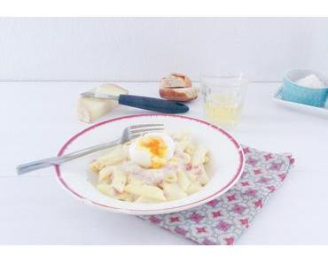 Pâtes au jambon et crème à l'Ossau Iraty