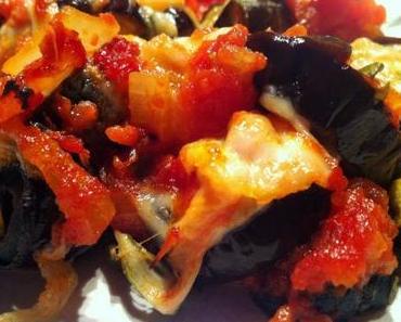 Gratin d'aubergines et mozzarella