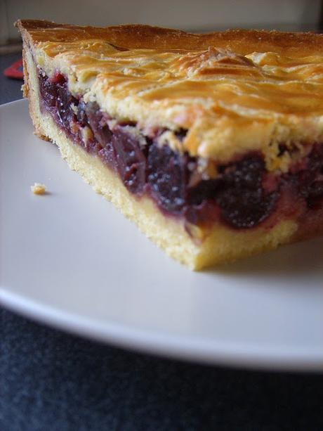 Gâteau breton aux cerises noires.
