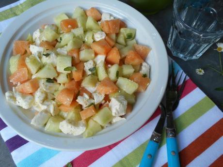 salade concombre melon mozza 1