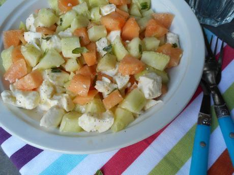 salade concombre melon mozza 2