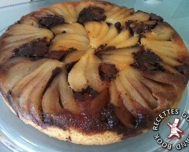 Gâteau renversé poire-chocolat