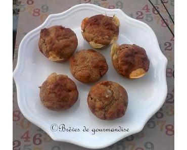 Muffins au chorizo, chèvre, et son de blé.