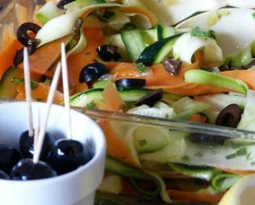 """ღ """" Miam """" Salade deTagliatelles de Courgettes et Carottes"""