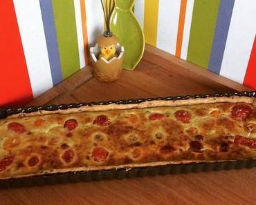 Ma tarte chèvre frais et tomates cerises