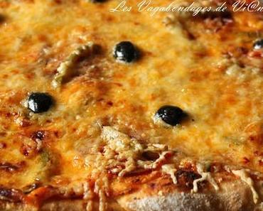 Pizza 5 fromages - chorizo - poivron