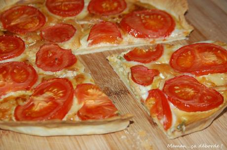 Tarte tomate, chèvre et moutarde