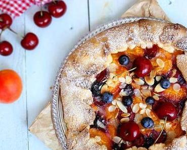 Tarte rustique amandes et fruits de saison
