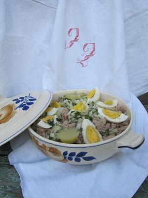 Salade de pommes de terre et thon