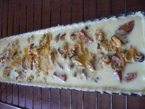 Tarte aux Moules et Chorizo.