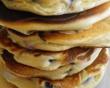 Pancakes aux myrtilles {Bataille Food #25}
