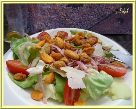 Salade de jambon fumé et Noix de Cajou