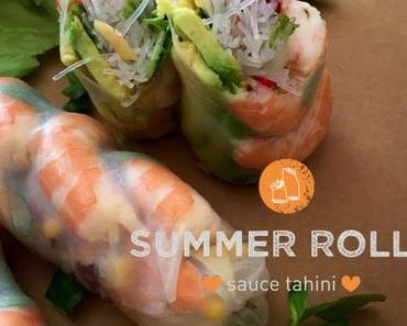 Summer rolls, sauce tahini