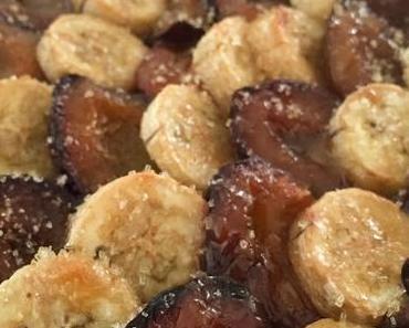 La tarte fine aux prunes et à la banane