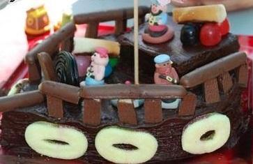 Gâteau minute bateau de pirate