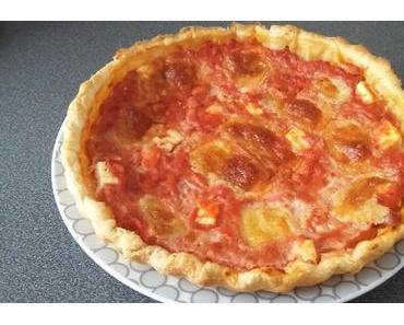Tarte à la tomate façon pizza