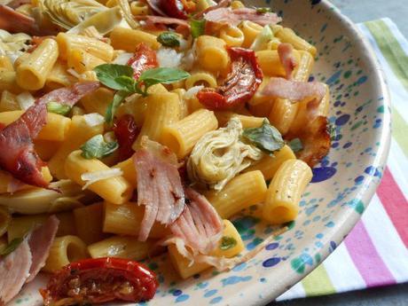 pennes artichauts et tomates confits 3