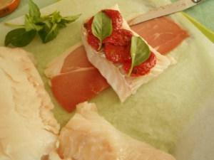 papillotte cabilaud jambon tomates confites 3