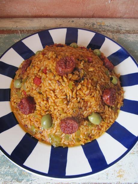 Riz aux poivrons et aux olives
