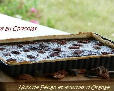 "ღ "" Tarte aux Chocolat -Noix de Pécans et écorces d'Orange"