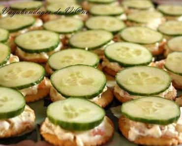 Crackers saumon, concombre
