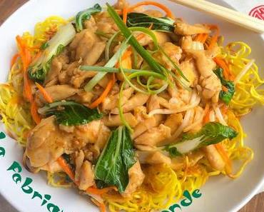 Chow Mein au Poulet  Gai See Chow Mein