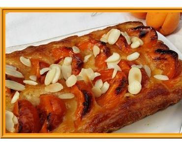 Tarte  abricots et amandes