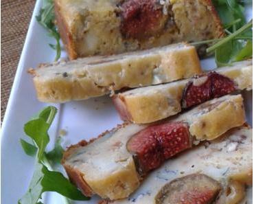 Cake aux figues, chèvre et miel