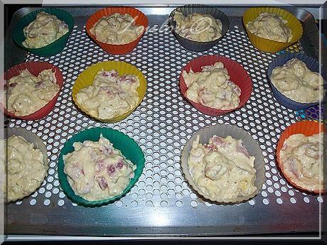 Muffins au comté et aux lardons